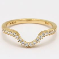 Capitol white diamond curved ring