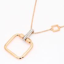 Mayari white diamond geometric necklace