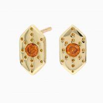 Amulet orange diamond stud earrings