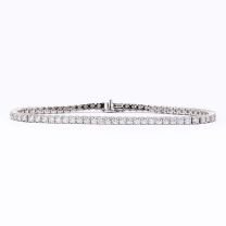 4.00 carat white diamond tennis bracelet