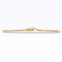 2.00 carat white diamond tennis bracelet