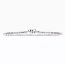 3.00 carat white diamond tennis bracelet