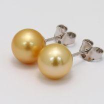 Abilene Gold South Sea Pearl Stud Earrings