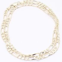 55cm Diamond Cut Bevelled Figaro 1.3 Chain