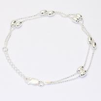 Bailey 18cm Oval Bead Double Strand Bracelet