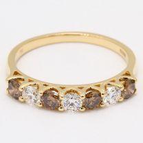 Hester Argyle Champagne and White Diamond Wedding Ring