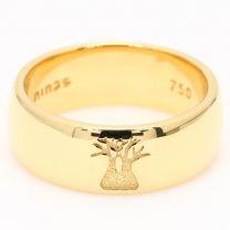 Chiseled boab ring