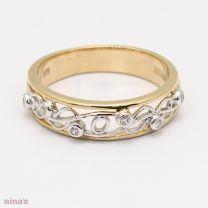 Artistry White Diamond Filigree Dress Ring