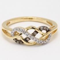 Cliona Diamond Plait Dress Ring