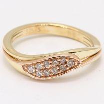 Stark Champagne Diamond Two Tone Stacker Ring