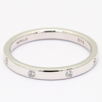Bengal white diamond stackable ring