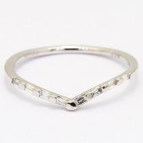 Wish white diamond stackable ring