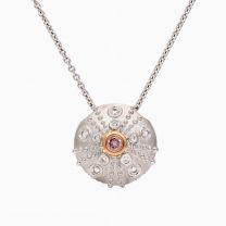 Urchin Argyle pink and white diamond necklace
