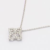Ulysses white diamond necklace