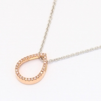 Viola 0.08 Carat Argyle pink diamond pear necklace