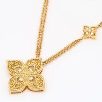 Padma white diamond floral necklace