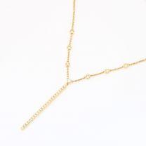 Parade white diamond bar necklace