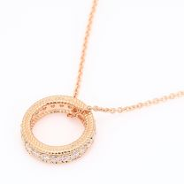 Indiana white diamond circle necklace