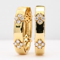 Thandi white and champagne diamond reversible hoop earrings