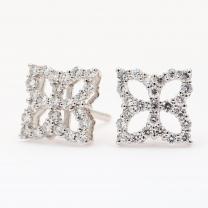 Ulysses white diamond stud earrings