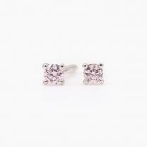 0.06 Carat Argyle pink diamond stud earrings