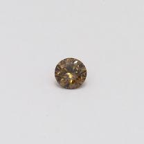 0.19 Carat round cut champagne diamond