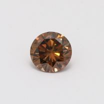 1.19 Carat Round Cut GIA Certified Fancy Dark Orangy Brown Diamond