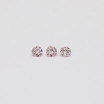 0.09 Total Carat Trio of Argyle Pink Diamonds