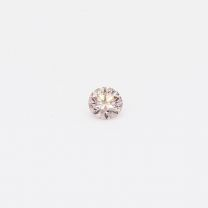 0.075 Carat Round Cut 6PR Argyle Pink Diamond