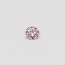 0.18 Carat round cut 7P certified Argyle pink diamond