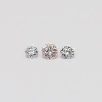 0.165 Total Carat Trio Parcel of Argyle Pink and Blue Diamonds