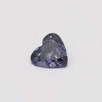 0.78 Carat heart cut certified blue diamond