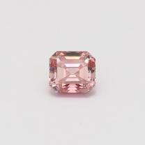 0.88 Carat emerald cut certified 5PR Argyle pink diamond