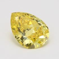4.72 Carat pear cut GIA certified fancy vivid yellow diamond