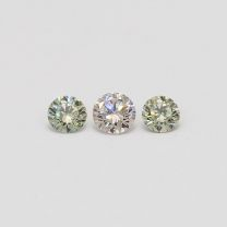 0.28 Total carat trio parcel of green and pink diamonds