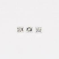 0.12 Total carat trio of princess cut white diamonds
