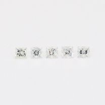 0.15 Total carat parcel of princess cut white diamonds
