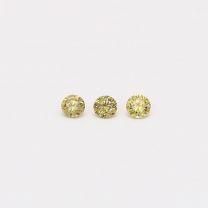 0.06 Total carat trio of green diamonds