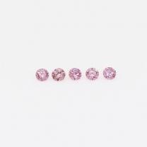 0.075 Total carat parcel of Argyle pink diamonds