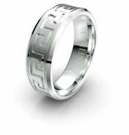 Horus Maze Etched Elements Infinity Mens Ring