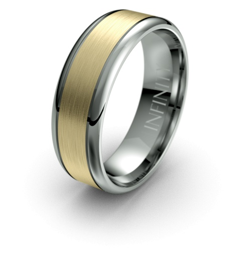 Titanium with Yellow Gold