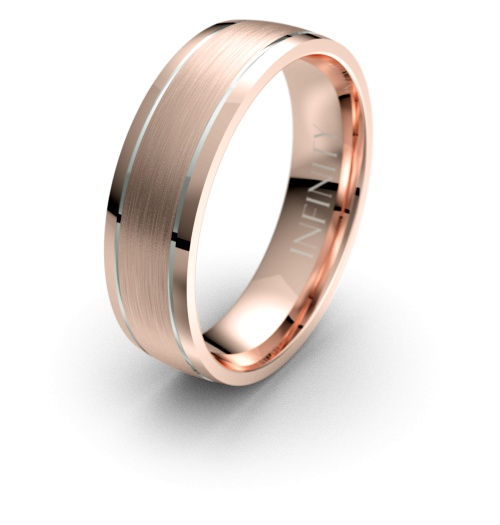 Rose with White Gold