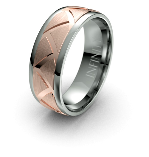 Titanium with Rose Gold