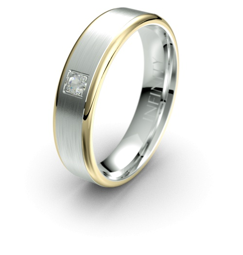 Yellow with White Gold
