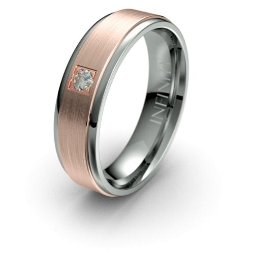 Titanium with Rose Gold