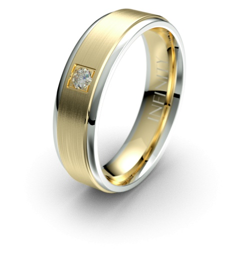 White with Yellow Gold