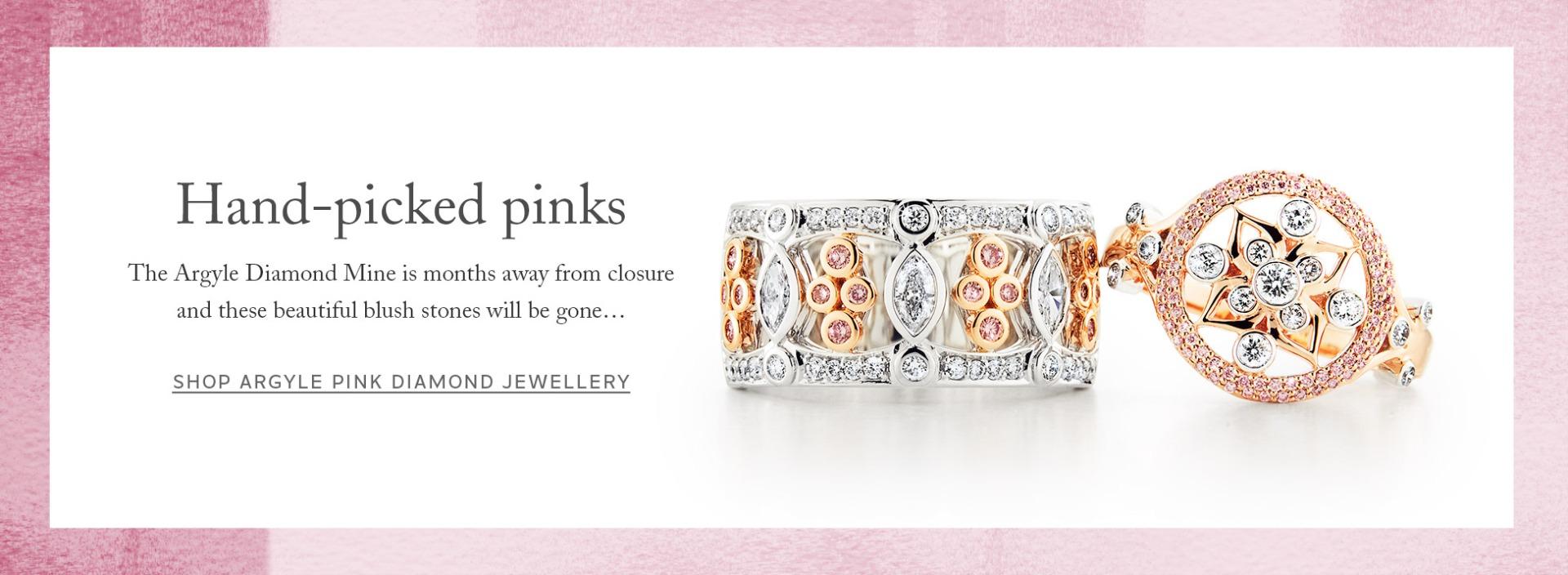 Argyle pink diamond jewellery - shop online now from Australia's coloured diamond specialists