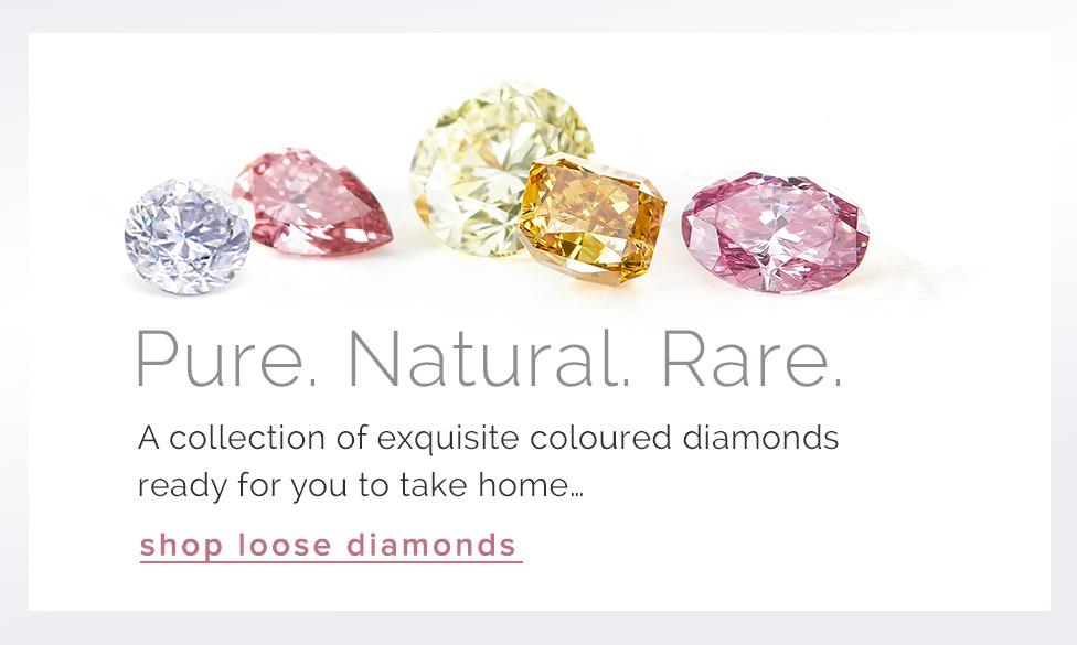 Natural Australian coloured diamonds from an Argyle atelier