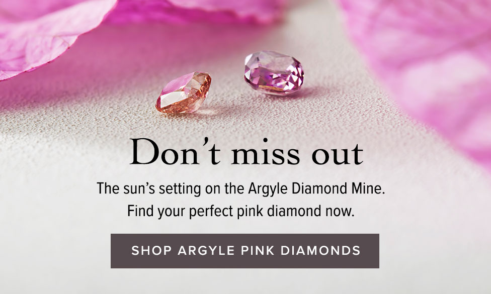 Argyle Pink diamond jewellery