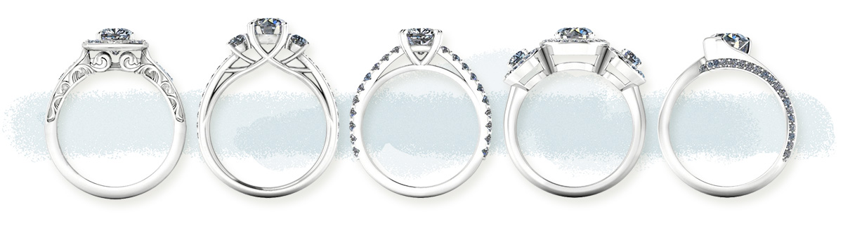 Choose your setting | Design your own diamond ring with Nina's Jewellery